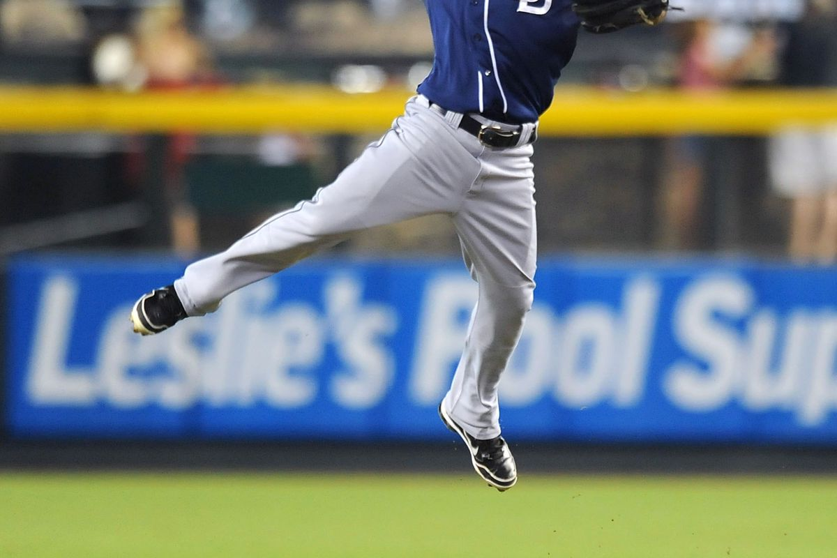 The Padres are flying high right now as they welcome Atlanta to San Diego.  They are winners of seven straight.   (Photo by Norm Hall/Getty Images)