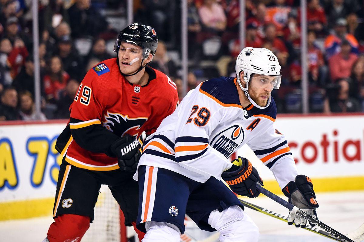 NHL: SEP 28 Preseason - Oilers at Flames