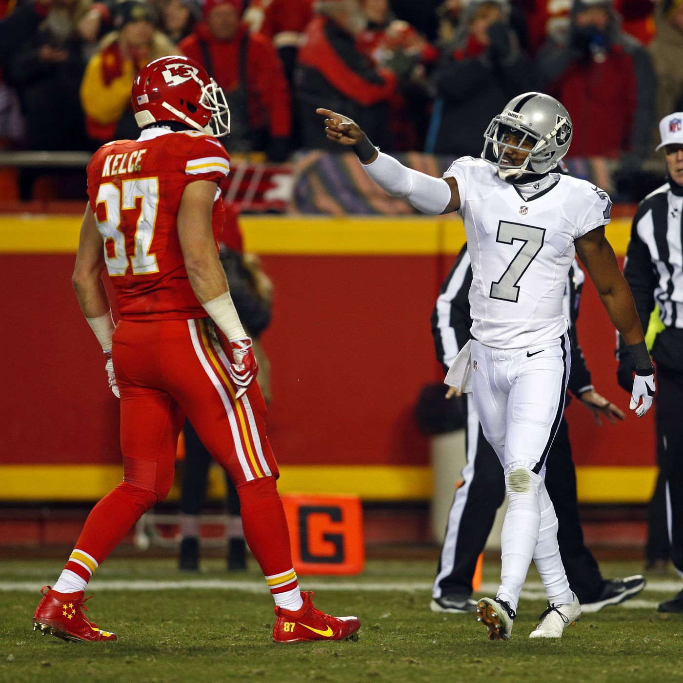 brand new e0b21 6cc4a Marquette King and Travis Kelce, who once taunted each other ...