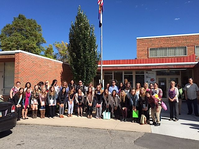 Teacher preparation students visited McKinley Elementary in the Canon City district on a recent day-long bus trip to rural districts.