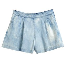 "Bleached Denim Shorts at Rebecca Taylor, <a href=""http://www.rebeccataylor.com/runway/bleached-denim-shorts/invt/rt213500p826/"">$245</a>"