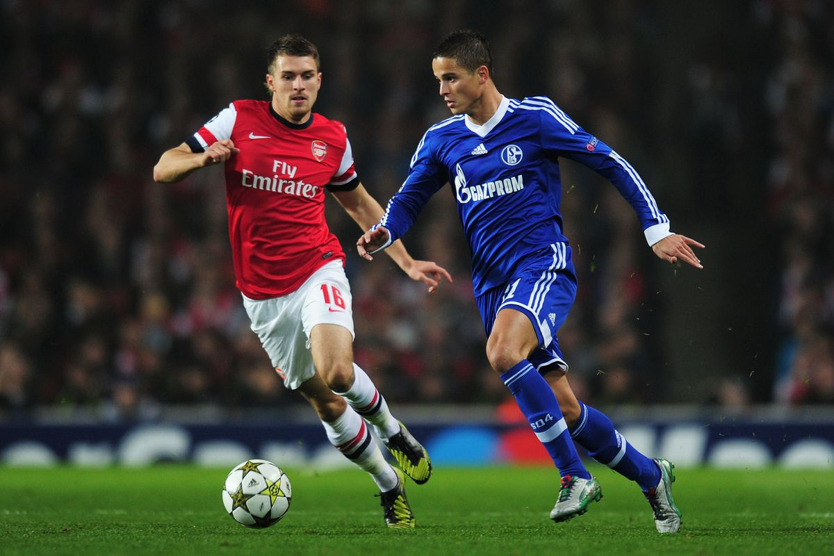 The future of Ibrahim Afellay, right, on loan at Schalke 04, is uncertain