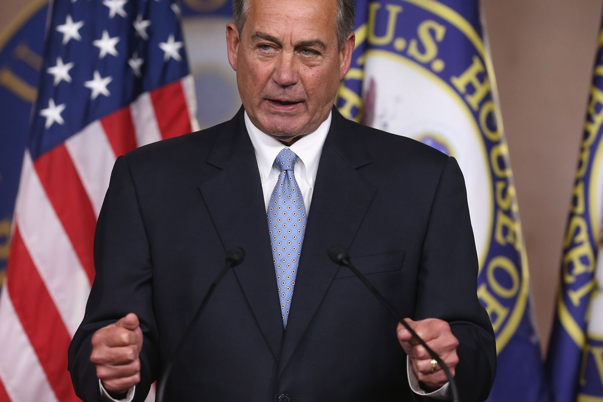 Speaker Boehner wants to cut down executive action on immigration until it's about that big.