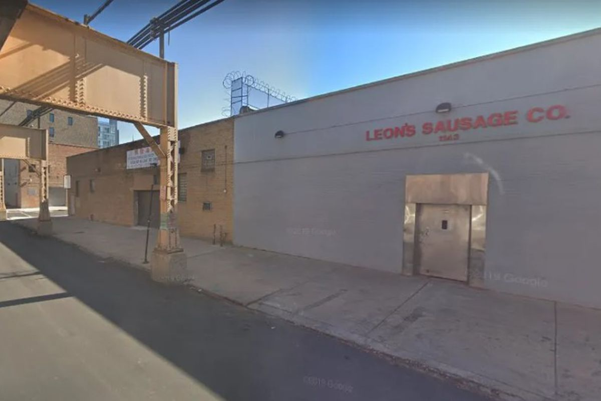 A portion of the LG Development Group site, which includes the former Leon's Sausage building at 1143 W. Lake St.