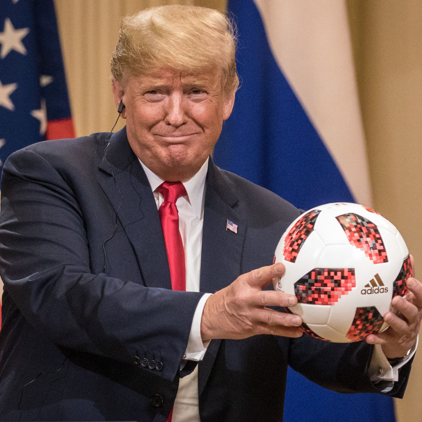 0b7292e1d Trump-Putin summit soccer ball: it's probably not spying on Trump - Vox