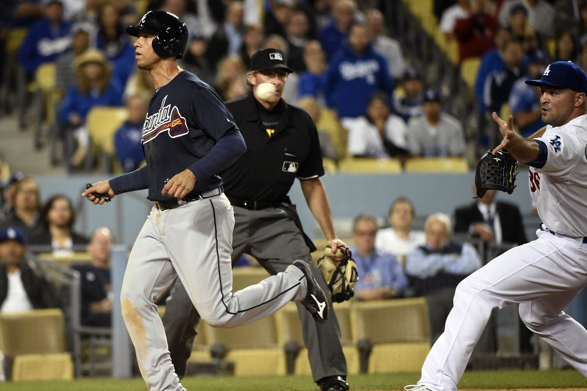 This eighth-inning wild pitch by Adam Liberatore scored the go-ahead run for the Braves.