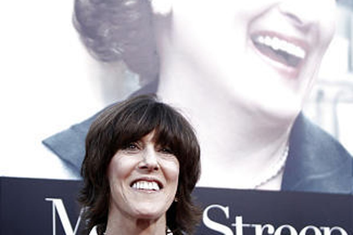 """Director and writer Nora Ephron arrives at the premiere of """"Julie and Julia"""" in Los Angeles."""