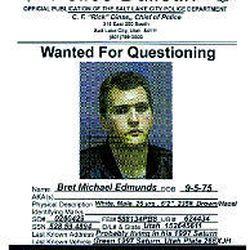 "Bret Michael Edmunds' ""wanted"" poster."