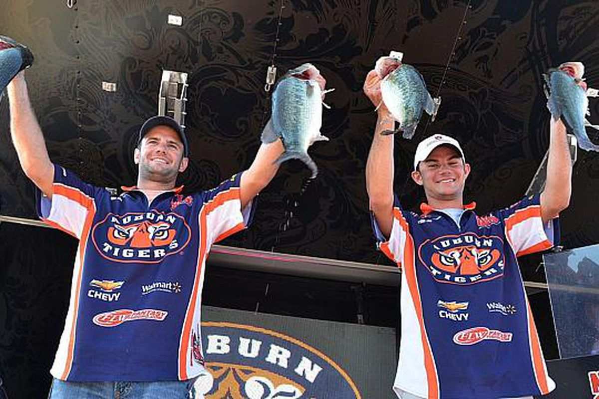 The Lee brothers of Auburn University's Bass Fishing Club hope to bring Auburn a National Championship today. (<em>photo, Auburn University</em>)