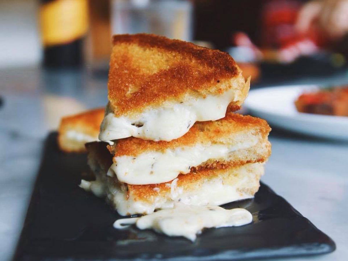 The bikini grilled cheese at Cooks & Soldiers
