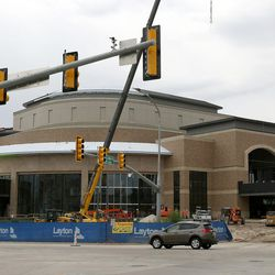 Construction continues on the Hale Centre Theatre in Sandy on Wednesday, Aug. 9, 2017.