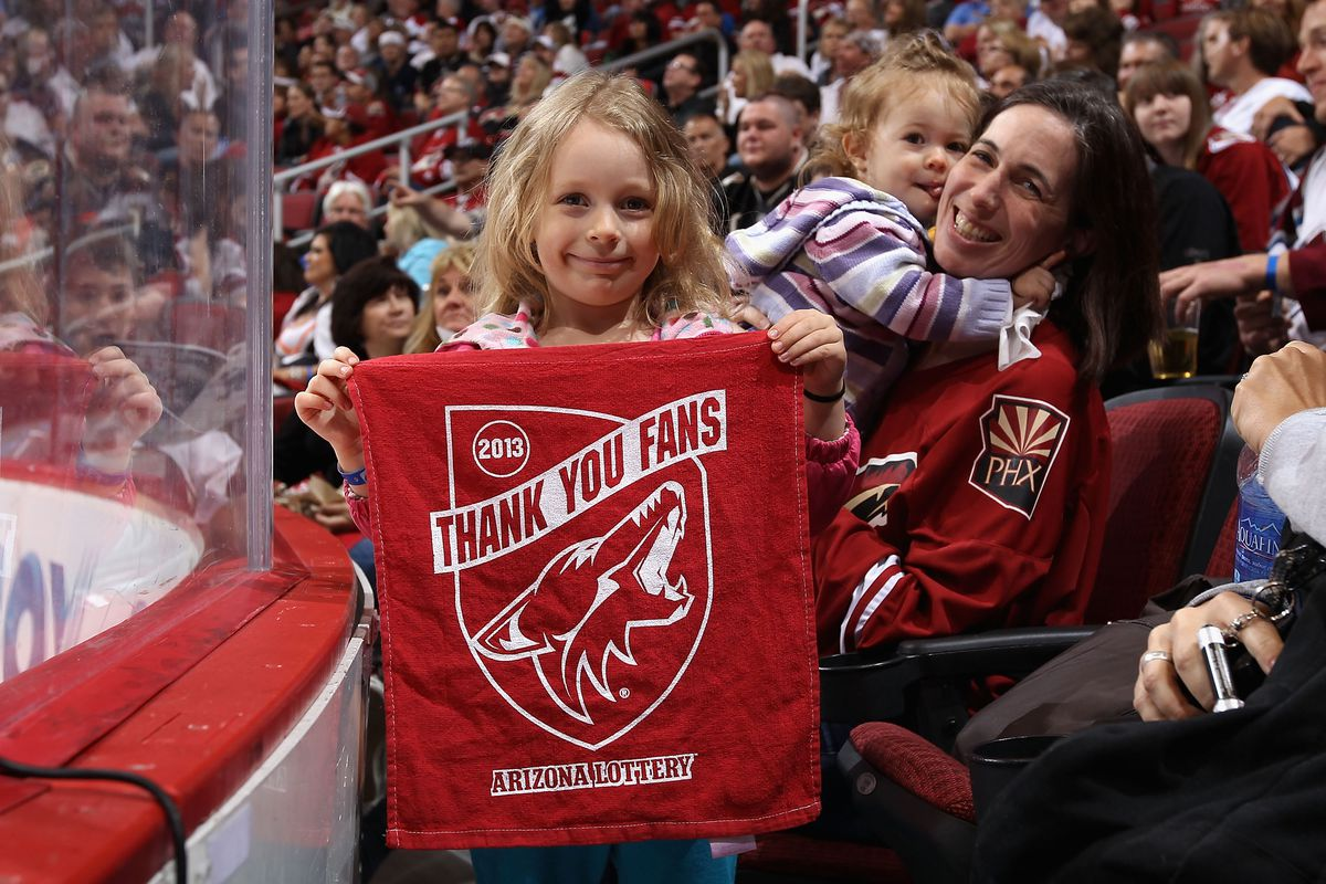 Young fans like this one are the future of the NHL. The Coyotes are setting a good example with Braid's hiring.