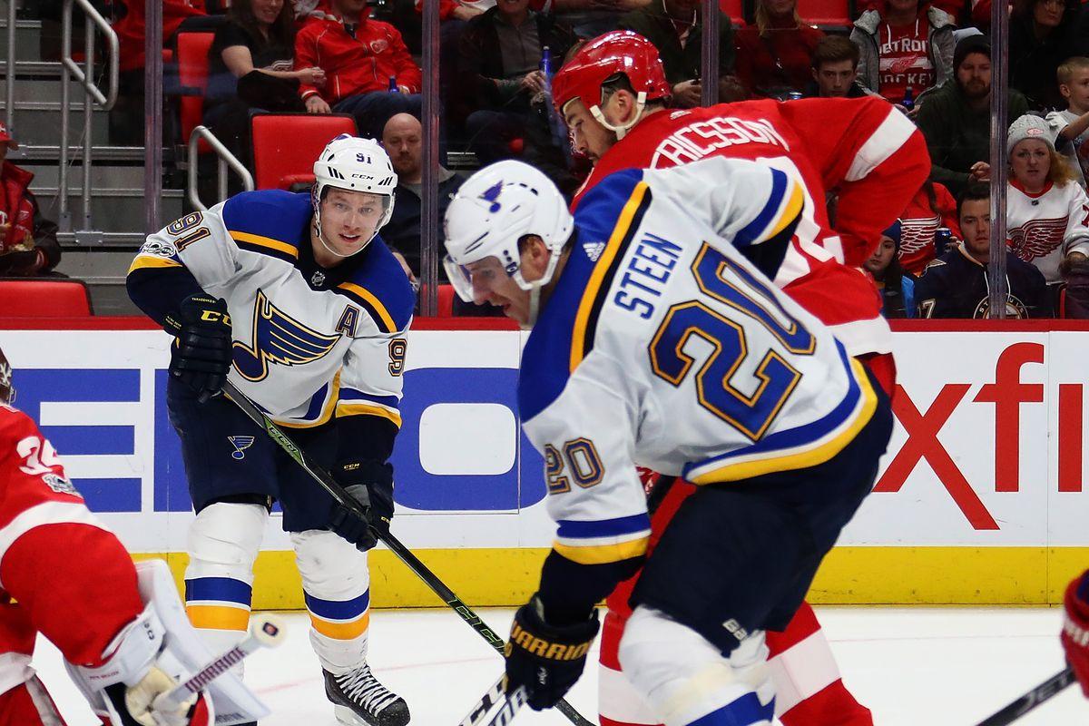 St Louis Blues v Detroit Red Wings