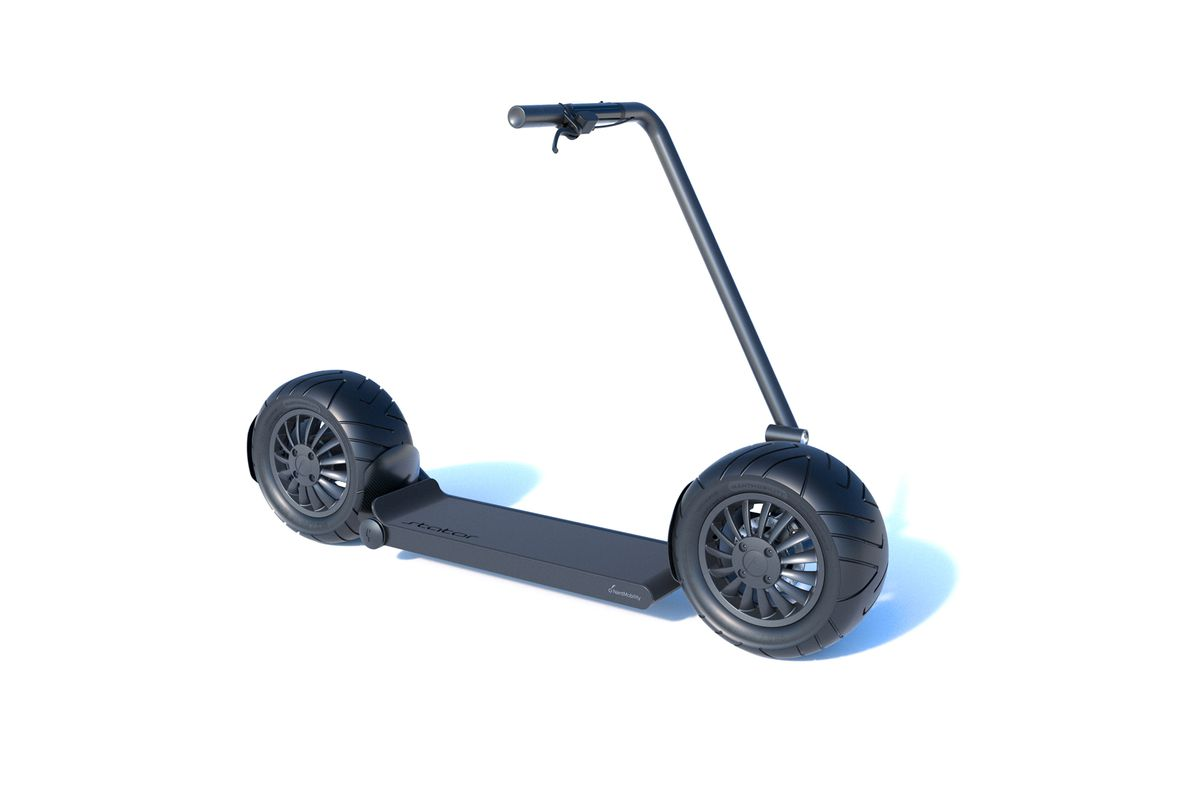 Strator S 3 995 Electric Scooter Has Ultra Fat Tires And A