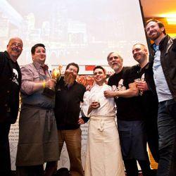 The chefs and Cochon555 organizer Brady Lowe