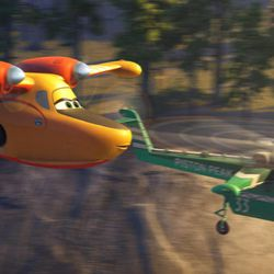 """Dipper and Windlifter are part of the firefighting aircraft team in Disney's """"Planes: Fire & Rescue."""""""