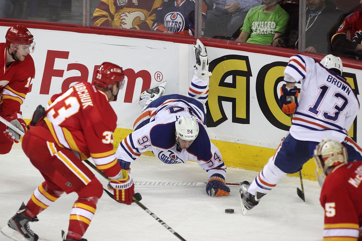 Silly Ryan Smyth. That's not how you play hockey!