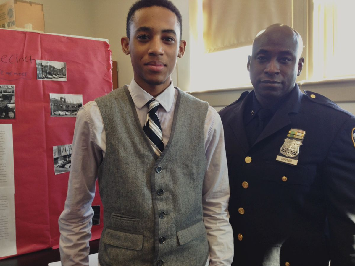 Enrique Boone and officer Julius Hudson, who supervised Boone's internship.