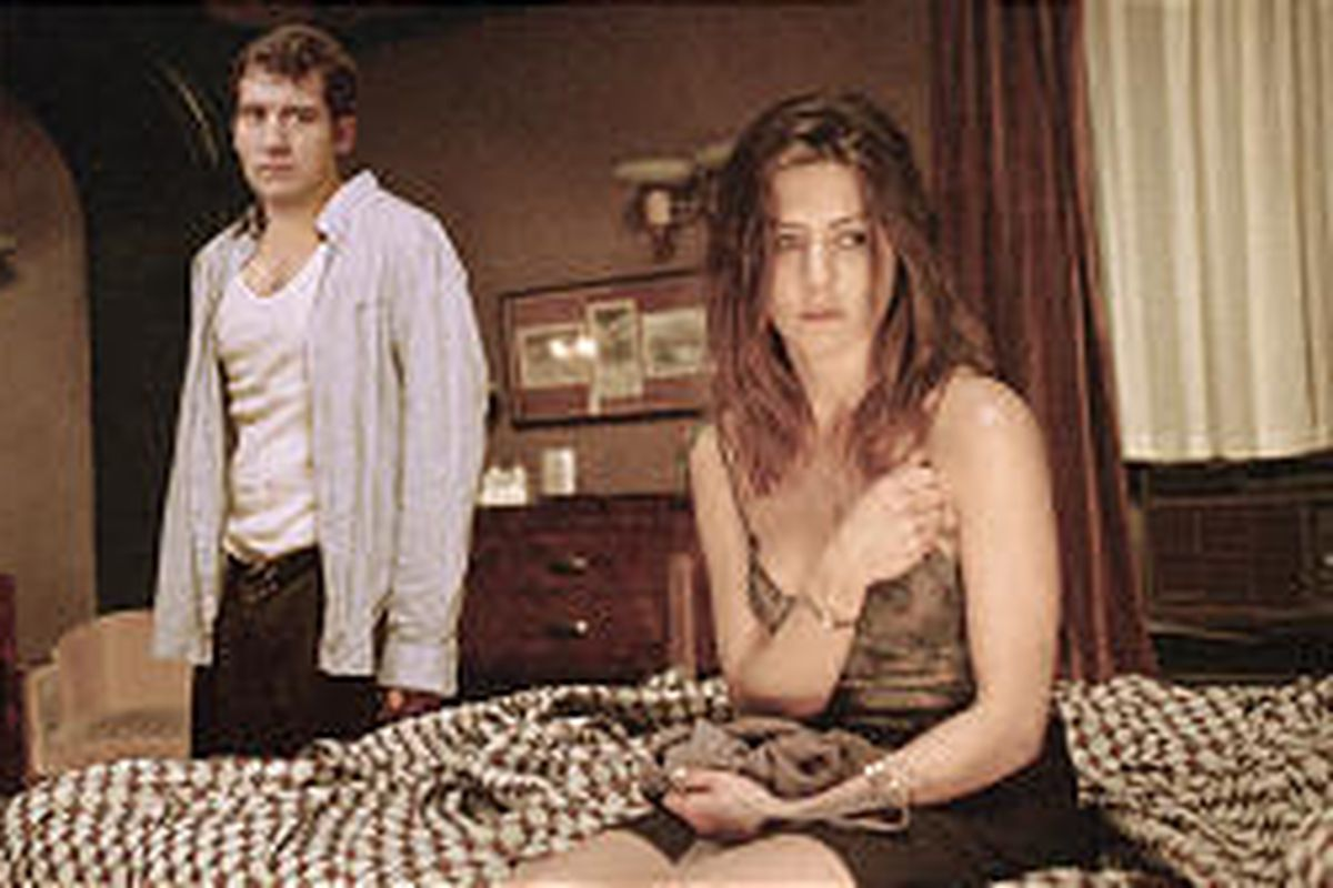 """Charles (Clive Owen) and Lucinda (Jennifer Aniston) in """"Derailed."""""""