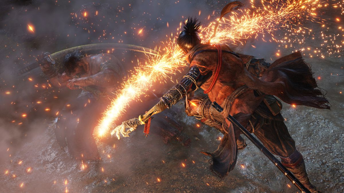 Sekiro: Shadows Die Twice - shower of sparks