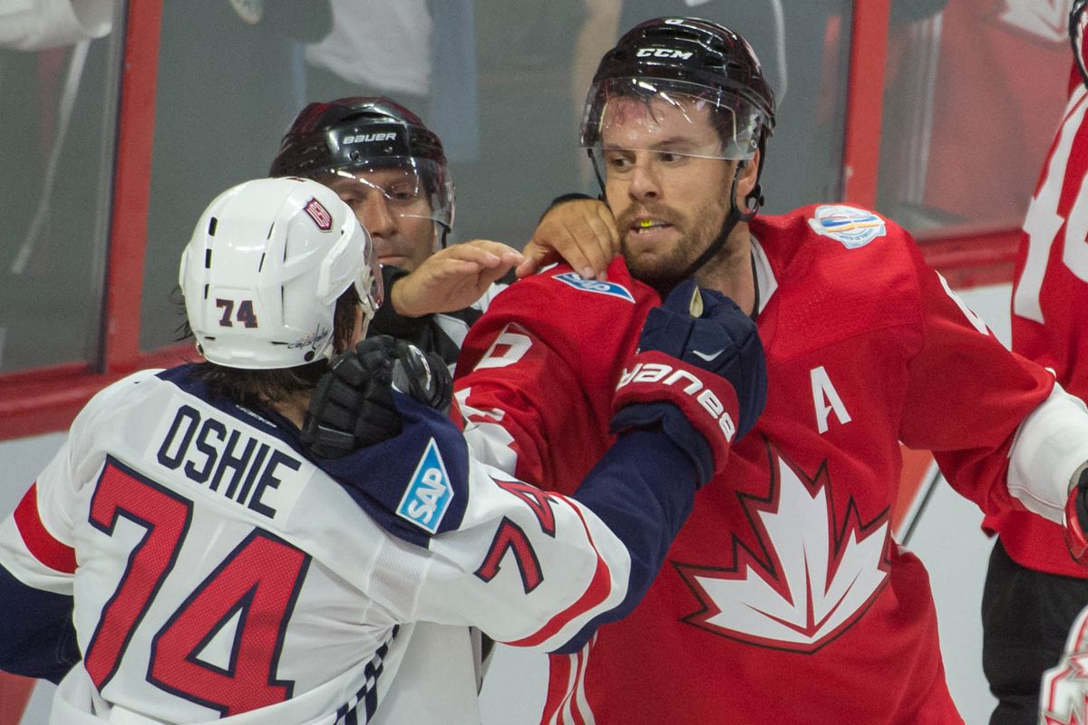 Hockey: World Cup of Hockey-Pre Tournament-Team USA vs Team Canada