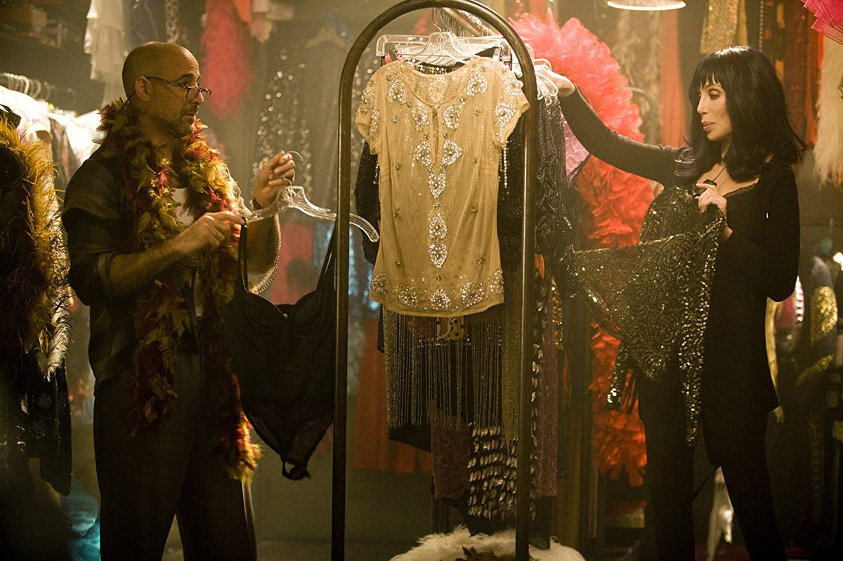 Stanley Tucci and Cher sort through glittery costumes