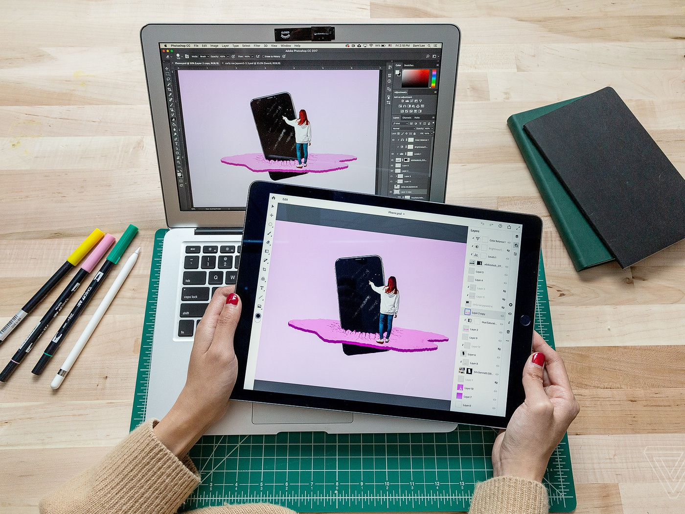 """How Adobe is bringing """"real Photoshop"""" to the iPad - The Verge"""
