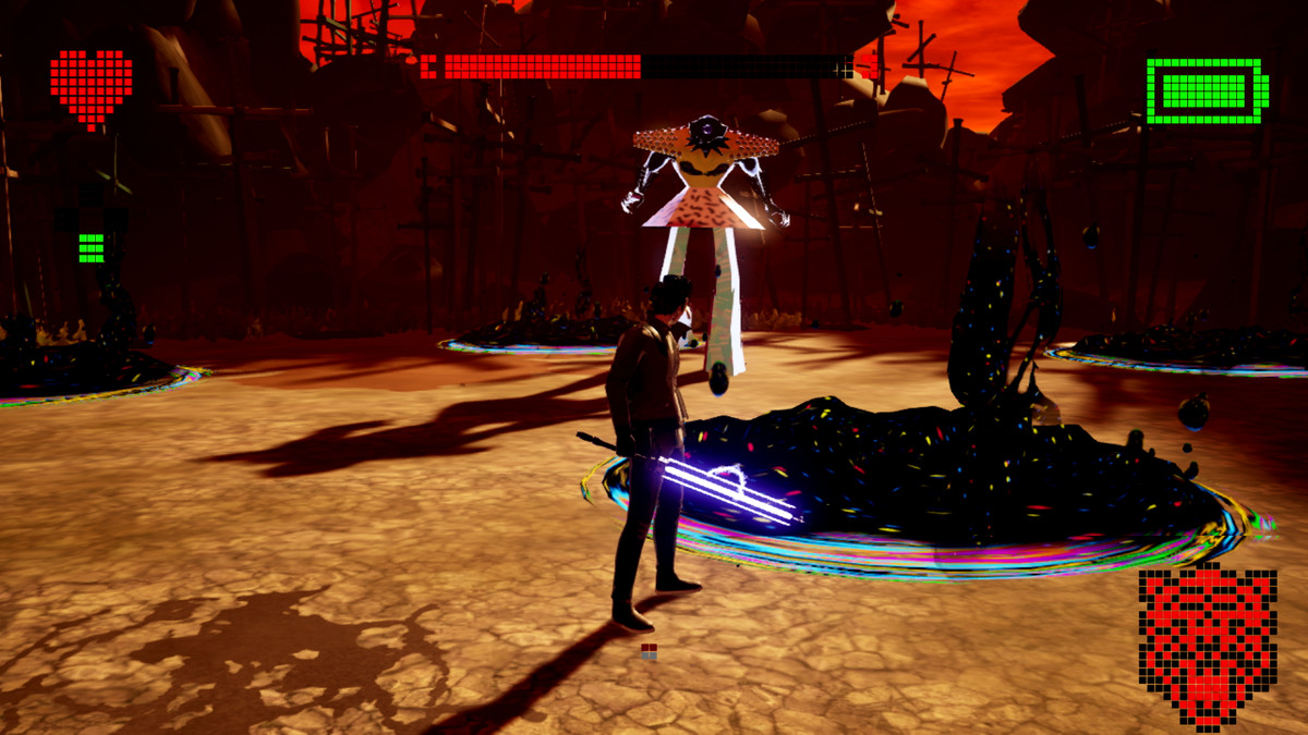 Blackholes on the ground in No More Heroes 3