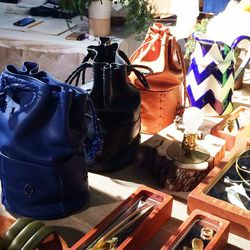 "Buttery handmade leather handbags by Echo Park Craft Fair co-founder <a href=""http://www.beatricevalenzuela.com/""target=""_blank"">Beatrice Valenzuela</a>."