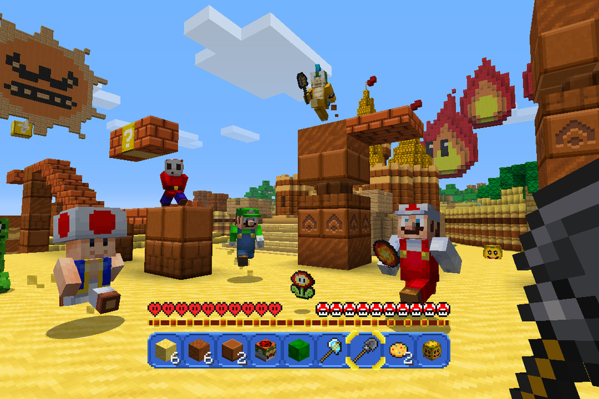 Nintendo S New Minecraft Mash Up Is A Love Letter To Super Mario The Verge