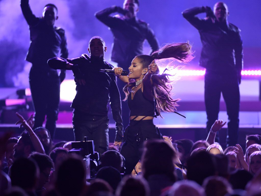 Ariana Grande performs at the Billboard Music Awards.   Chris Pizzello/Invision/AP