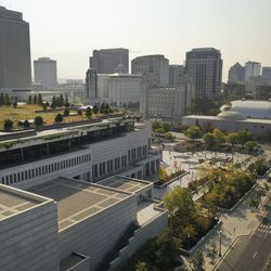 The Conference Center is vacant due to COVID-19 restrictions during the 190th Semiannual General Conference of The Church of Jesus Christ of Latter-day Saints in Salt Lake City on Sunday, Oct. 4, 2020.