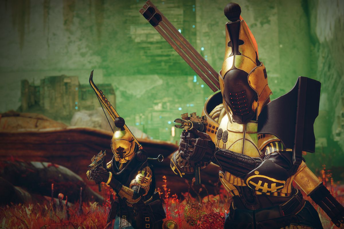 Two Guardians take on Battlegrounds in Season of the Chosen armor