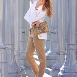 """Shea of <a href=""""http://peaceloveshea.com/"""">Peace Love Shea</a> is wearing a Juicy Couture tracksuit and bracelets, an <a href=""""http://www.forwardforward.com/fw/DisplayProduct.jsp?product=ALC-WS74"""">A.L.C.</a> shirt, a <a href=""""http://www.ssense.com/women/"""