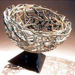 """Global Transformation Hemisphere #2"" (sculpture) by Dean Petaja at the Brigham City Museum-Gallery through Nov. 15."