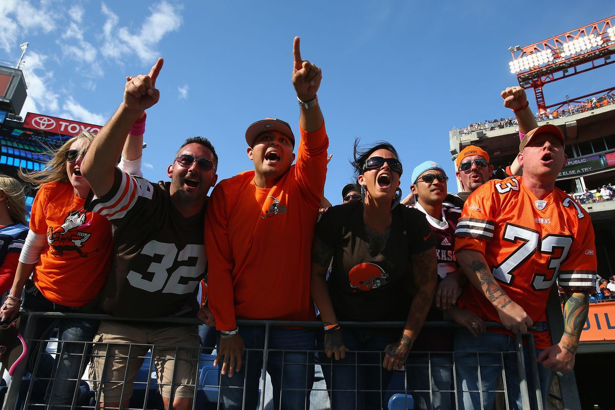 Browns fans made their presence felt in Tennessee in 2014.