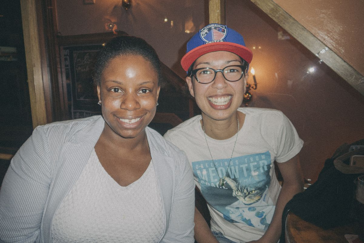 Blue Ladies of NYCFC Leilani Kali and Mei-Ling Hyler