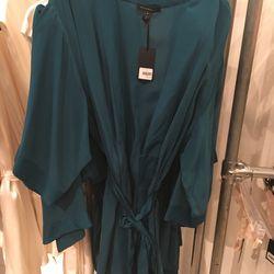 Silk robe, size M, $150 (was $325)