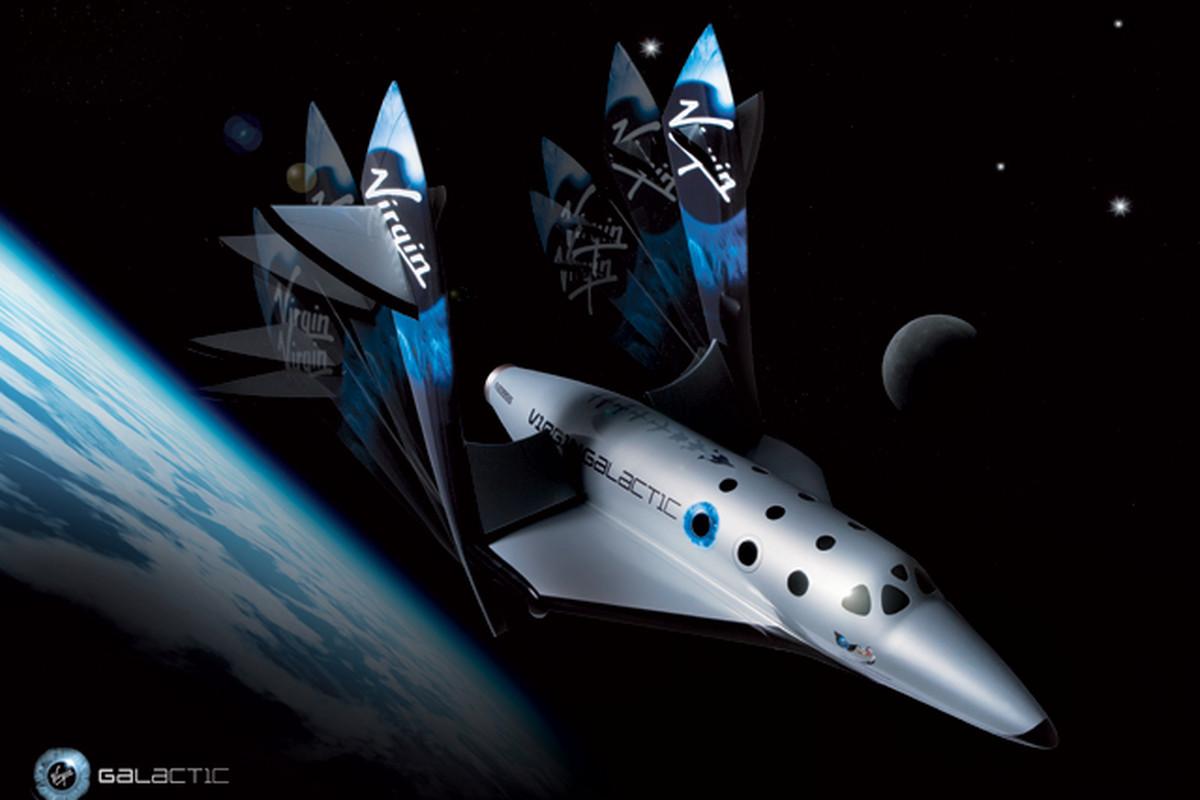 Virgin Galactic Spaceship Two Feathering