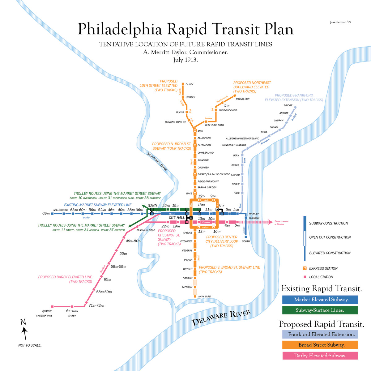 How To Outline Story Like Subway Map.Map Of Philly S 1913 Subway Plan Shows What Public Transit Could
