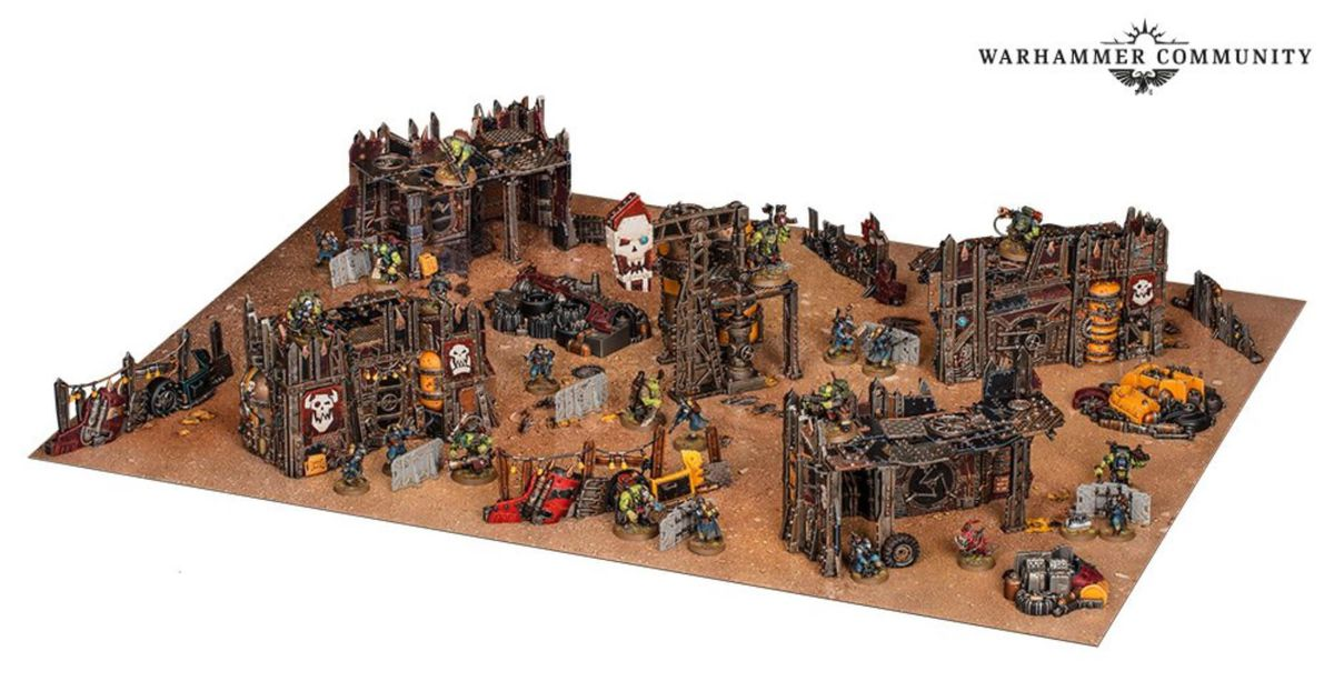 All the models included in the Octarius set, professionally painted and set up for play.