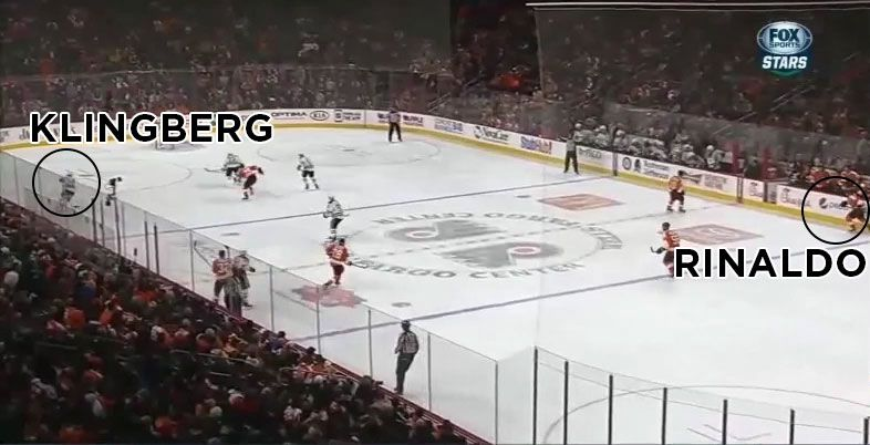Rinaldo jumps on ice