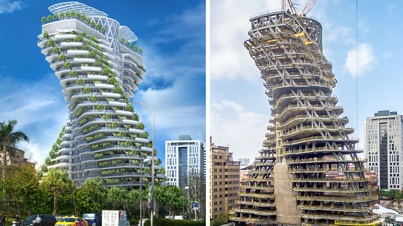 Carbon sucking tree tower grows in taiwan curbed for Architecture utopique nomade