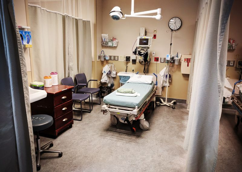 An emergency room at the Marshall Medical Center in Placerville, California.