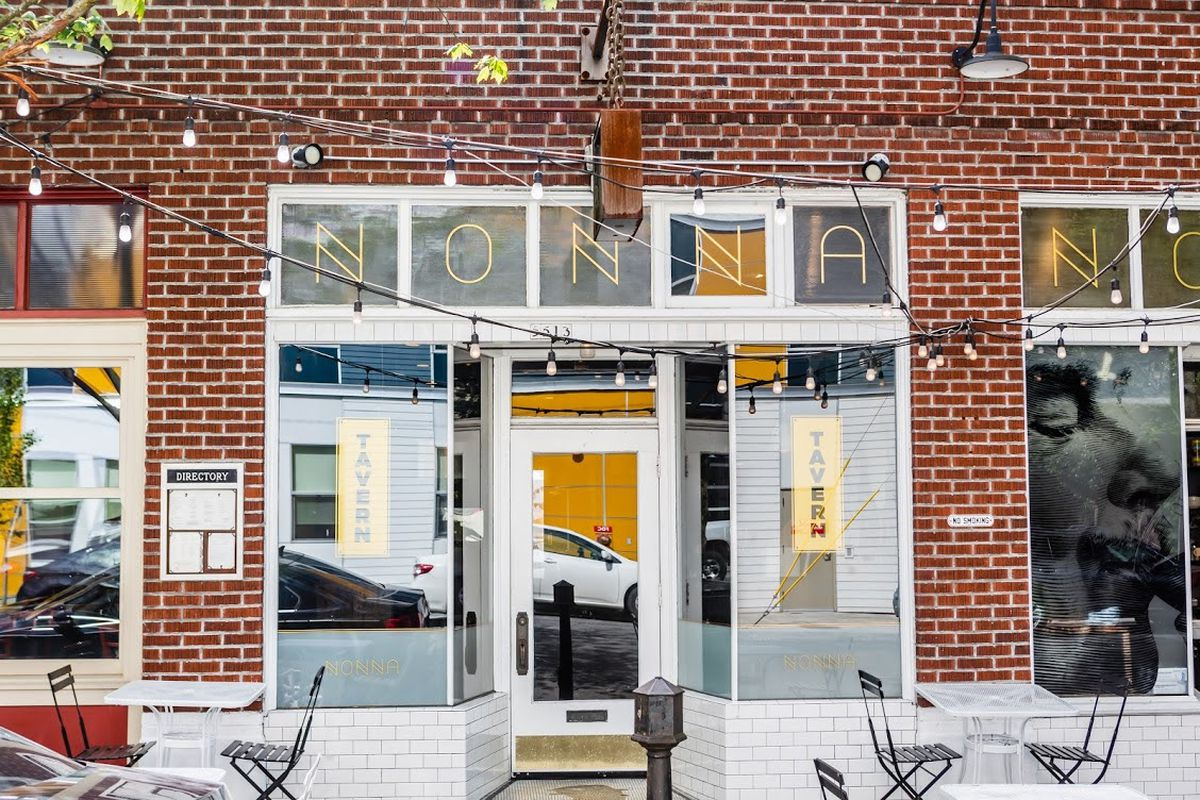 A picture of the brick exterior of Nonna