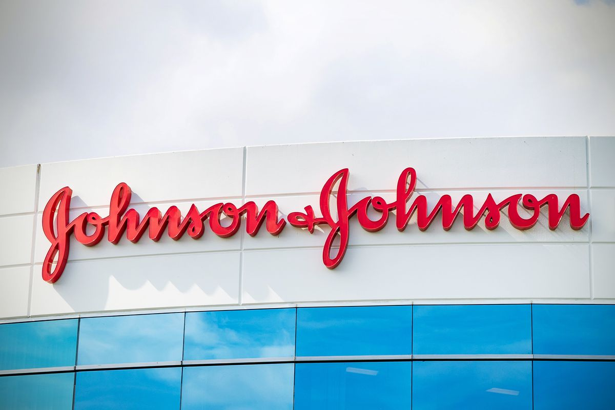 A view of the Johnson & Johnson offices in Irvine, California, on October 23, 2020.