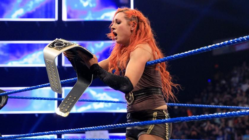 Becky Lynch holds the SmackDown Women's title after defeating five opponents at Backlash