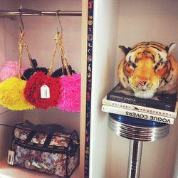 Pom-pom bag chains by LA-based label, Ventidue.