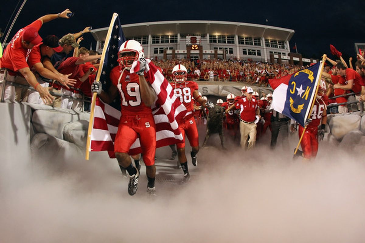 RALEIGH NC - SEPTEMBER 16:  North Carolina State Wolfpack enter Carter-Finley Stadium before their game against the Cincinnati Bearcats. NC State has made a commitment to facilities.  UCLA needs to do the same.  (Photo by Streeter Lecka/Getty Images)