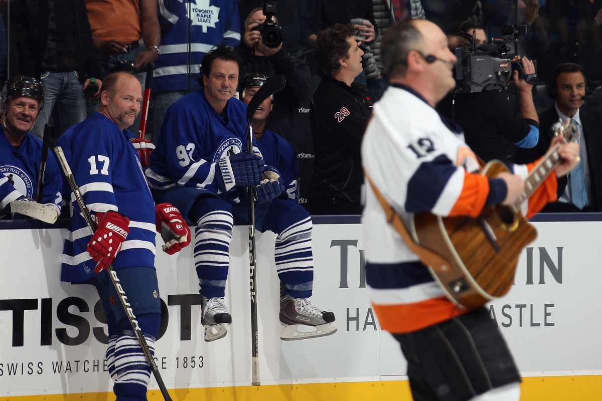 """Clark: """"Wish Trottier was on Long Island when I played there."""" Gilmour: """"You were an Islander? No shit."""""""